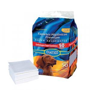 Tapete Higiênico Chalesco Para Cães Com 50 Unidades Branco