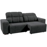 Sofá 4 Lugares Linoforte Versalhes com Assento Retrátil e Encosto Reclinável em Tecido Suede 232 cm de largura D33