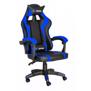 Cadeira Gamer Pro Giratória Gallant Altura Regulável Preta/Azul