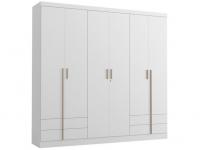Guarda-roupa Casal 6 Portas – 4 Gavetas Kappesberg Aspen – Magazine