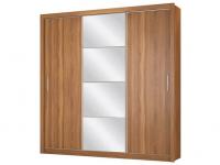 Guarda-roupa Casal com Espelho 3 Portas de Correr – 2 Gavetas Demóbile Residence Flex – Magazine