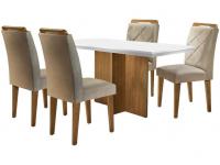 Mesa de Jantar 4 Cadeiras Retangular Rufato – Berlim Melis – Magazine