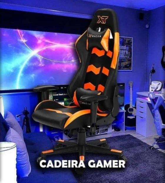Cadeira Gamer XT Racer Reclinável Preta e Cinza – Speed Series XTS130