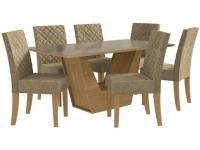 Mesa de Jantar 6 Cadeiras Retangular Kappesberg – Veneza