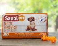 Tapete Higiênico Sanol Dog 80x60cm – 30 Unidades