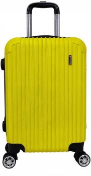 Mala De Bordo Viagem Rígida Em Abs 4 Rodinhas 360º Cadeado (Amarela)