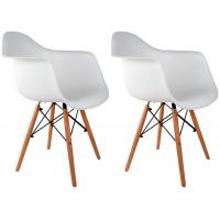 Conjunto com 2 Cadeiras Charles Eames com Braço