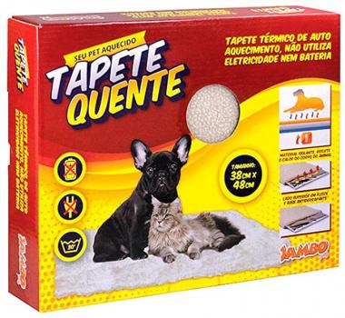 Tapete Auto Aquecimento Pequeno Jambo para Cães