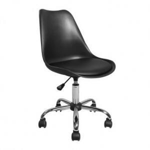 Cadeira de Escritório Secretária Giratória Eames Preta