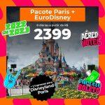 Pacote Paris com 2 Dias de Parque Disneyland Paris – 2022 e 2023