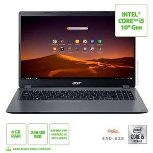 "Notebook Acer i5 10º, 4GB, 256SSD, Tela HD, 15.6"" -"
