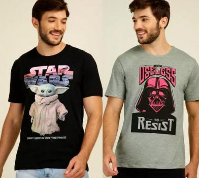 Leve 2 camisetas com estampa Nerd por 59