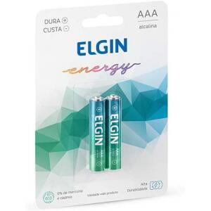 Kit Pilhas Alcalinas com 2X Aaa Palito Elgin Baterias