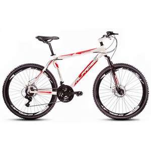 Bicicleta Alfameq Stroll Aro 26 Freio À Disco 21 Marchas - Branca Com Vermelho - Quadro 17v