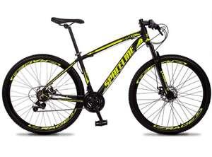 Bicicleta 29 c/21 Marchas Shimano SPACELINE VEGA Freio a Disco Suspensão c/80mm - Tamanho 17