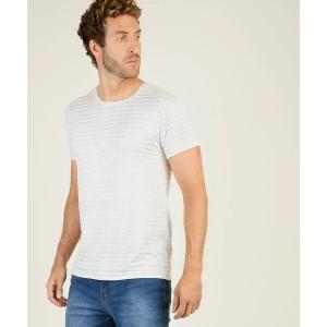 Camiseta Masculina Listrada Manga Curta