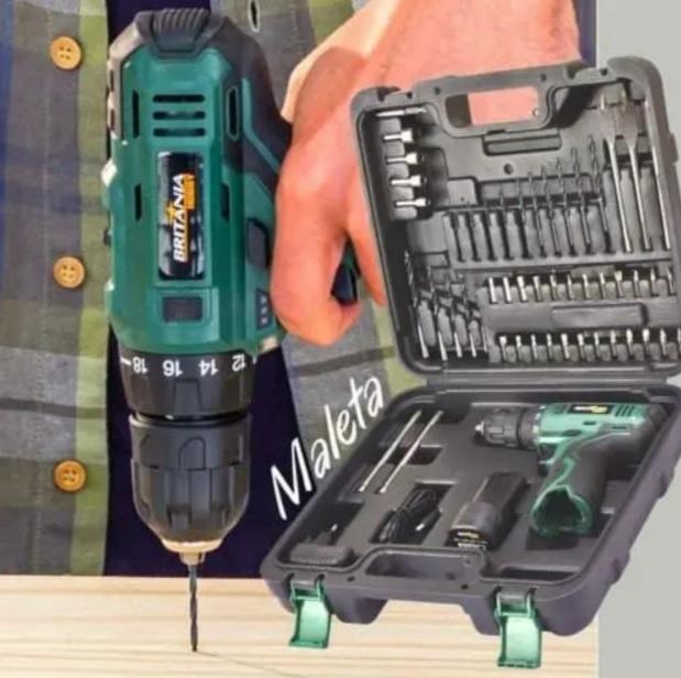 """Furadeira e Parafusadeira a Bateria de Bancada – Britânia Hobby Velocidade Variável 3/8"""" BPF03"""