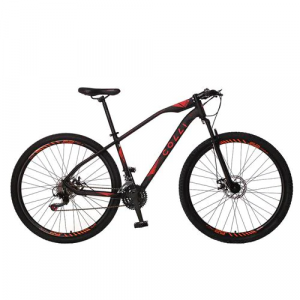 Bicicleta Colli Bike Duster Aro 29 Alumínio com 21 Marchas – Preta/Laranja