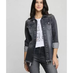 Jaqueta Feminina Jeans Alongada Marisa