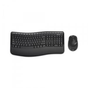 Kit Teclado e Mouse Sem Fio Microsoft Wireless Comfort Desktop 5050