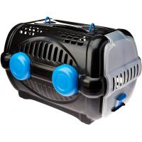 Caixa de Transporte para Luxo Pet N.1 Preto com Azul - Furacão