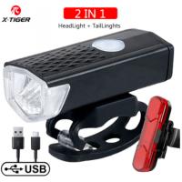 Farol X-TIGER para bicicleta à prova de chuva carregamento USB, LED 1200 Lumens Modelo QD-0101T