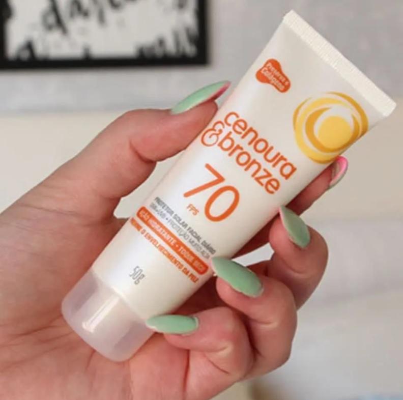 Cenoura e Bronze Protetor Solar Facial Fps70 – 50 g