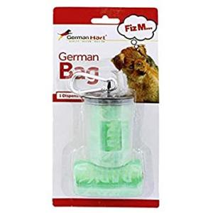 GermanHart Dispenser de Cata-Caca para Cães Transparente Linha Colors Verde