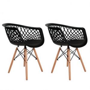 Conjunto com 2 Cadeiras Web Preto