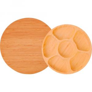 Tábua Giratória 35cm + Petisqueira Giratória - La Cuisine Linha Bambu