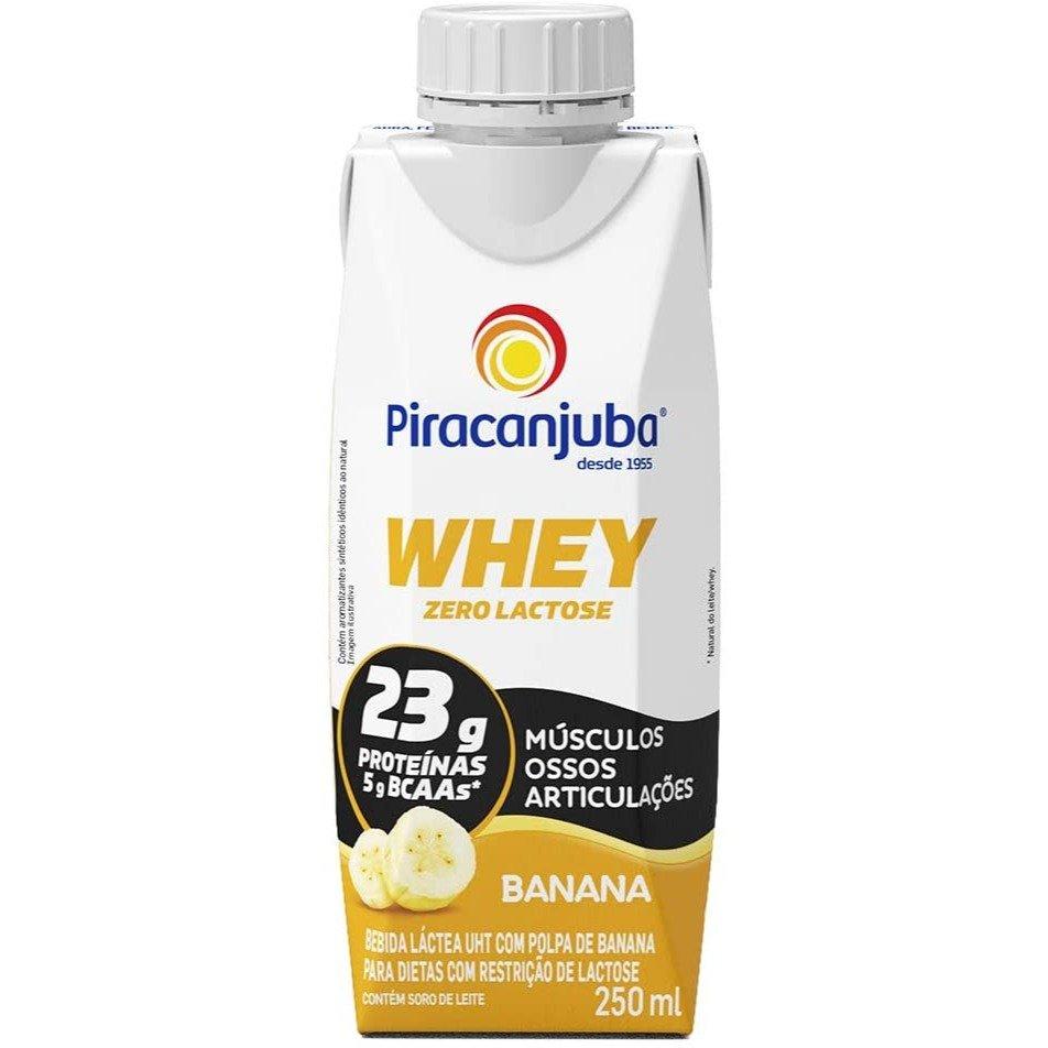 Whey Zero Lactose Sabor Banana Piracanjuba 250ml