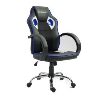Cadeira Gamer Giratória c/ Altura Regulável Gallant Preta/Azul GCD10GPUA-AZ