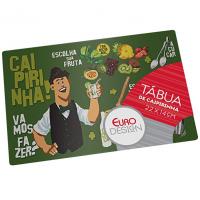 Tabua De Vidro Para Caipirinha Bartender 22 Cm, Euro, TBC0359, Decoração