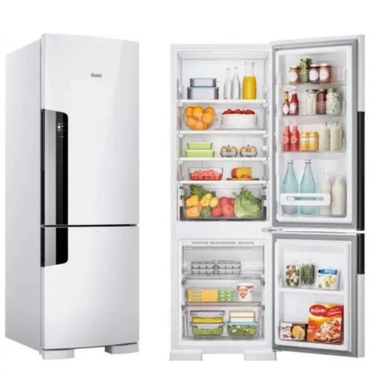 Geladeria/Refrigerador Consul Duplex CRE44 Frost Free com Freezer Embaixo 397 litros Branca – 110V
