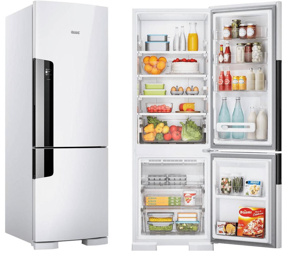 Geladeira/Refrigerador Consul Duplex CRE44 Frost Free com Freezer Embaixo 397 litros Branca – 110V