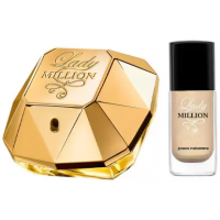 Kit Lady Million Eau de Parfum Paco Rabanne - Perfume Feminino 50ml + Esmalte