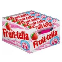 Bala Fruittella Swirl Morango Com Creme De Leite - Vitamina C e Suco De Frutas 615g 15 Unidades