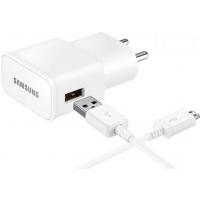 Carregador de Viagem Samsung Bivolt Micro USB Ultra Rápido Branco