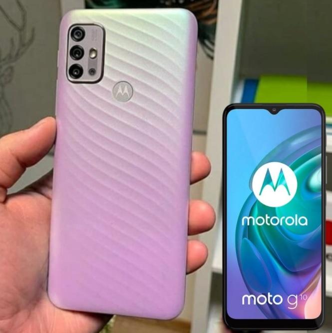"Smartphone Motorola Moto G10 64GB – 4G 4GB RAM Tela 6,5"" Câm. Quádrupla + Selfie 8MP"
