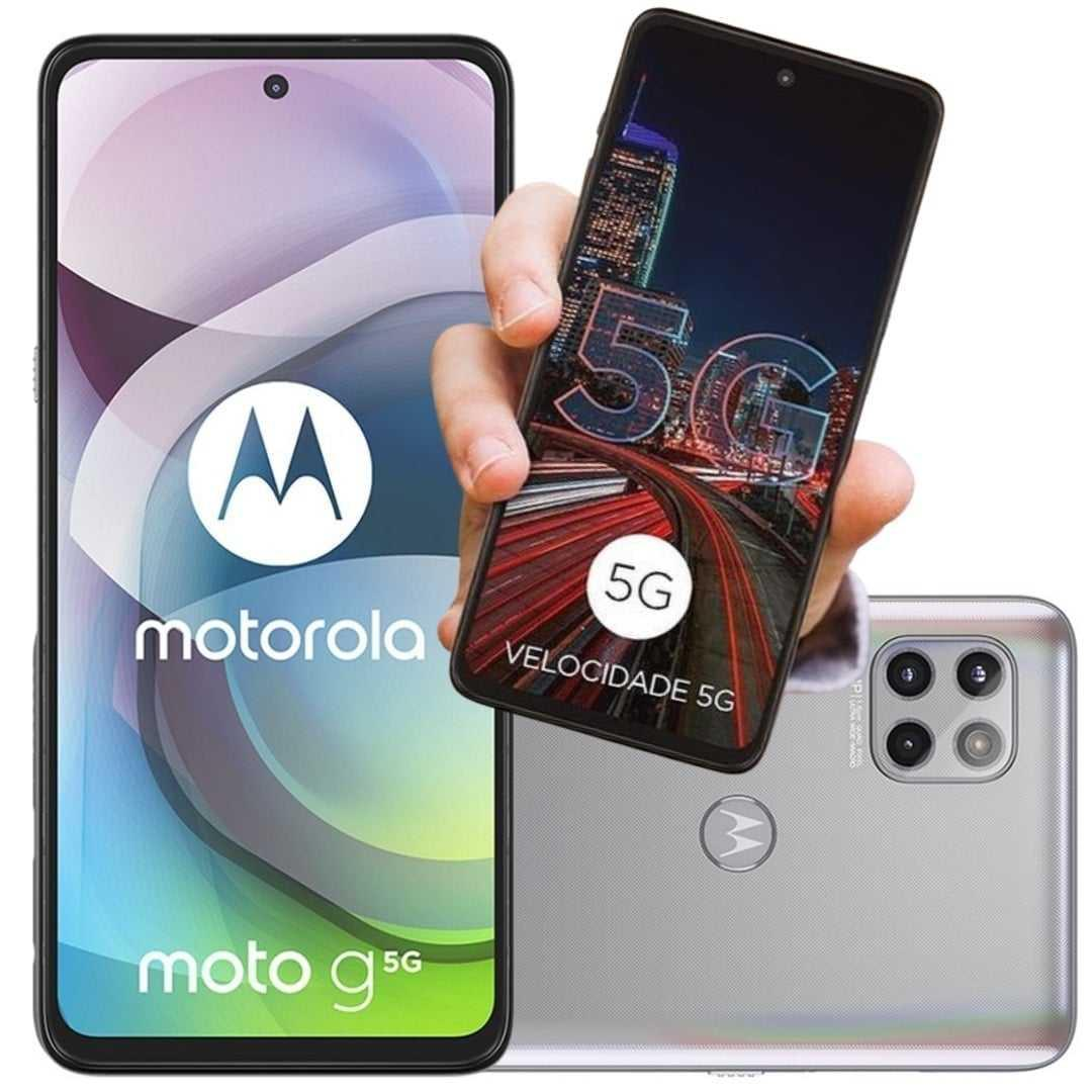 Smartphone Motorola Moto G 5G 128GB – Prata Prisma
