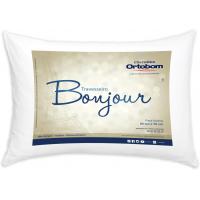 Travesseiro Ortobom Bonjour em Fibra Siliconizada 50 x 70 cm - Branco