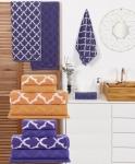 Jogo De Toalhas Banho Loucos Por Shoptime Branco/laranja 5 Peças – Casa & Conforto