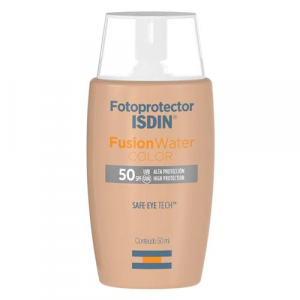 Protetor Solar Facial Isdin Fotoprotector Fusion Water Color FPS 50+ 50ml