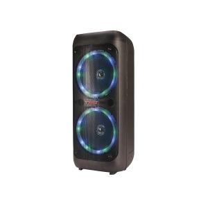 Caixa de Som Amplificada TRC 5540 Bluetooth USB iluminação Frontal em Led Rádio FM Bateria Interna 400W