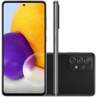 """Smartphone Samsung A72 128GB Preto 4G Tela 6.7"""" Câmera Quádrupla 64MP Selfie 32MP Dual Chip Android 11.0"""