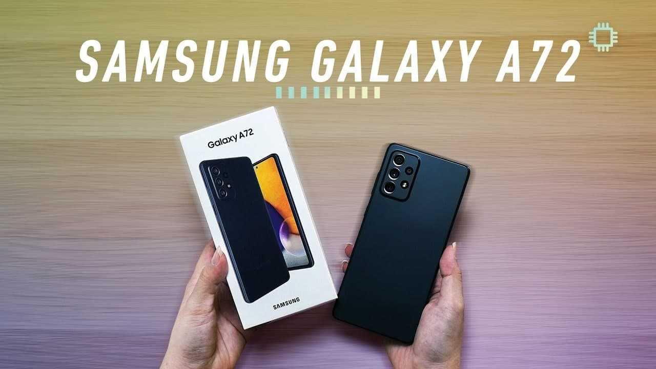 Smartphone Samsung A72 128GB 6GB RAM Tela 6,7″ Câmera Quádrupla Traseira 64MP + 12MP + 8MP + 5MP Frontal de 32MP Bateria de 5000mAh Preto