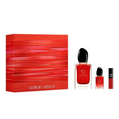 Giorgio Armani Sì Passione Kit Perfume Feminino EDP + Batom Líquido + Miniatura