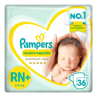 Fraldas Pampers Recém-Nascido Premium Care Rn 36 Unidades, Pampers ($.66 a Tira)
