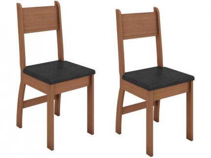 Jogo de Cadeiras para Cozinha Estofada – Poliman Móveis Milano M02070 2 Peças