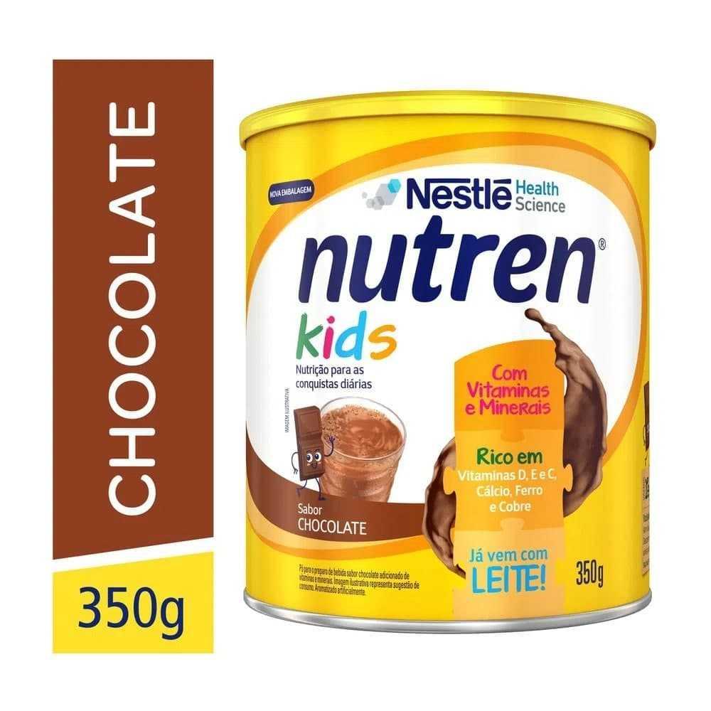 2 Un. Suplemento Alimentar, Nutren Kids, Chocolate, 350g
